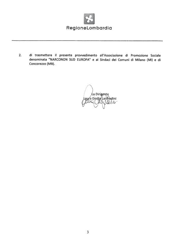 Narconon Sud Europa Riconoscimento Regionale pag.4