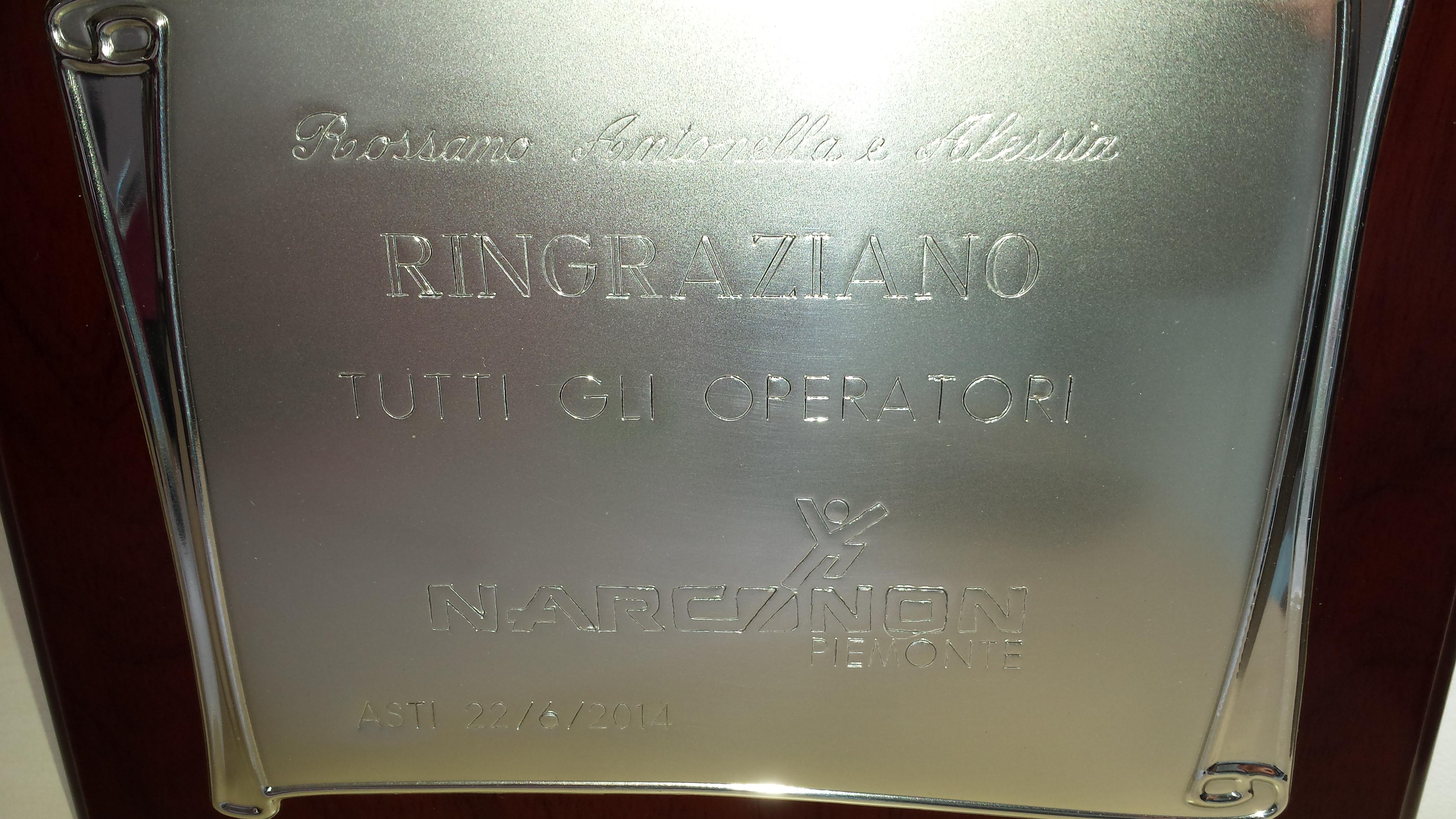 Ringraziamento a tutti gli operatori del Centro Narconon Piemonte