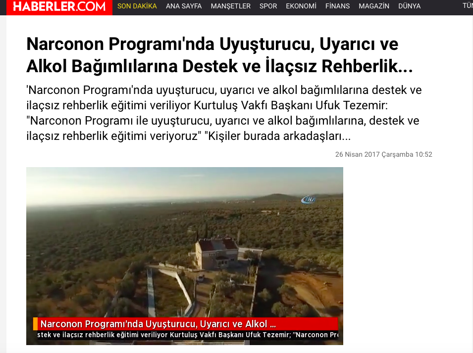 Centro Narconon Turchia