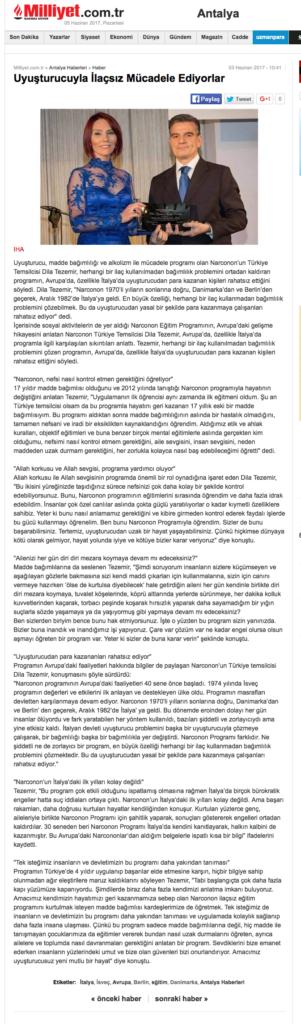Narconon Turchia, Narconon Sud Europa stampa