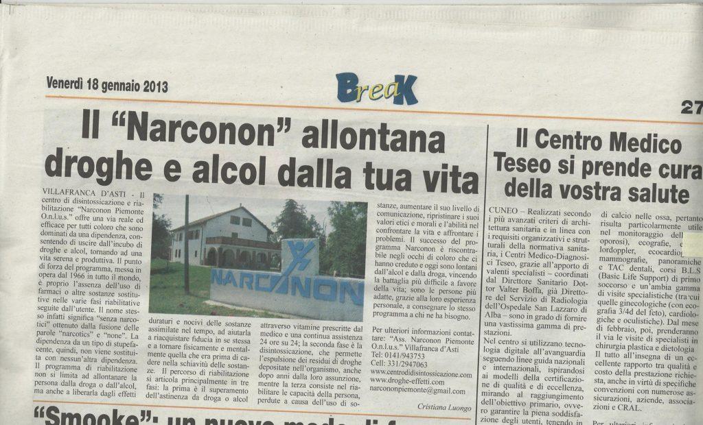 Centro Narconon Piemonte - giornali