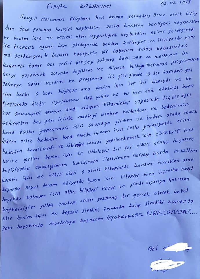 Narconon Türkiye Kurtuluş Vakfı kazanımı
