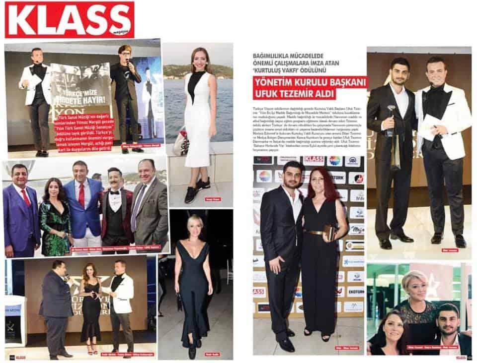 Kurtuluş Vakfı Narconon Türkiye - Ufuk Tezemir - Türkiye Vizyon Ödülleri