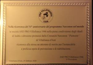 Narconon Piemonte - ASD Pro Villafranca