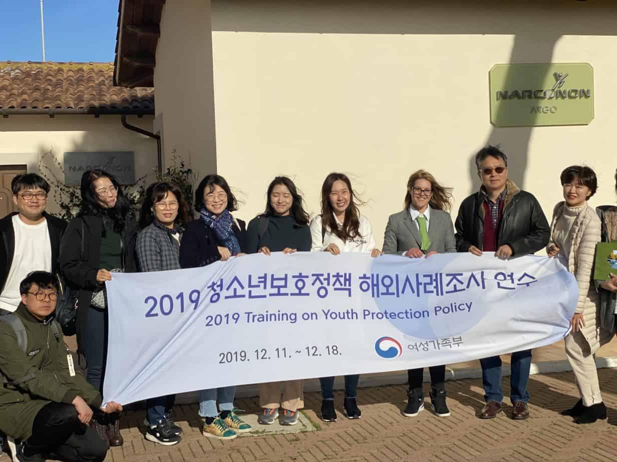 Delegazione Corea del Sud al centro Narconon Argo
