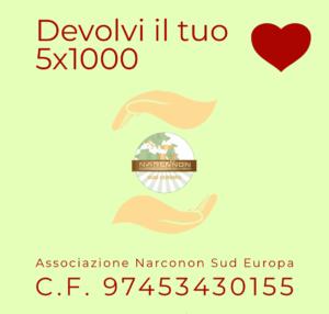 Devolvi il tuo 5x1000. Associazione Narconon Sud Europa